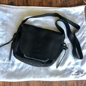 New Coach Small Dakota Whiplash Gunmetal Purse